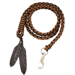Barefoot Amber Braided Lead Rope